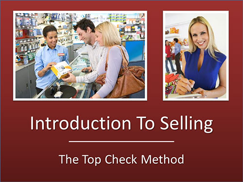 intro to selling